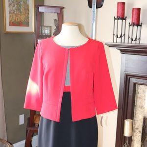 NWT Sandra Darren Black Red Jacket Dress